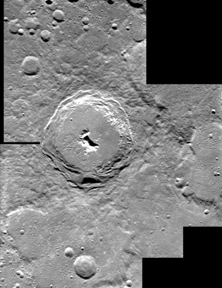 SMART 1: кратер Пифагора